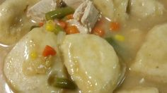 Easy yummy Chicken & Dumplings - jazzed up of course - it's what's for dinner!!
