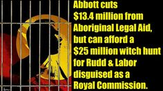 #auspol #australia #tonyabbott #aboriginallegalaid #pinkbattsrc