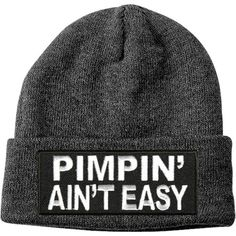 Pimpin' ain't easy Beanie ($20) ❤ liked on Polyvore featuring accessories, hats, beanies, beanie cap, beanie hat and beanie cap hat