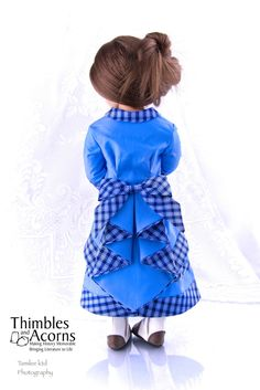 """Waterfall Bustle 16"""" and 18"""" Doll Clothes"""