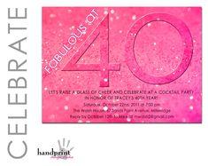 40th Birthday Invitation - Adult Birthday Invitation - Fabulous at Forty. $10.00, via Etsy.