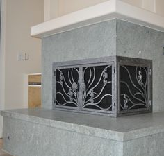 L-Shaped, Iron Fireplace Doors by AMS Fireplace - www.amsfireplace ...