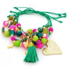 Pulsera Verde Esperanza   Compra tus accesorios desde la comodidad de tu casa u oficina en www.dulceencanto.com