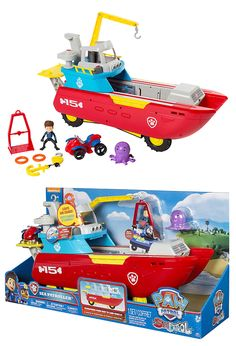 These are already selling like hot cakes! Keep your eye on where to get the Paw Patrol Sea Patroller here! Ryder Paw Patrol, Paw Patrol Toys, Toddler Girl Gifts, Toddler Boy Toys, Diy Toys For 1 Year Old, Toys For Girls, Kids Toys, Phone Watch For Kids, Kids Spiderman Costume