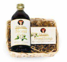 Noni Juice & Noni Soap Gift Basket (Mini Noni) « Blast Gifts Noni Juice, Gift Baskets, Soap, Canning, Mini, Gifts, Presents, Home Canning, Favors