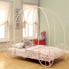 Coaster Lexi Princess Twin Canopy Bed, Pink