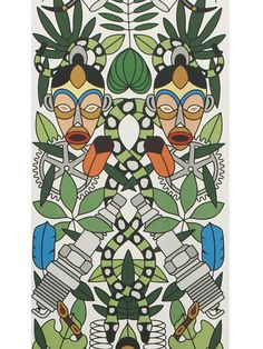 Sample of Archives Collection L'Afrique Wallpaper design by Studio Job for NLXL Wallpaper