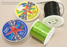 Two types of stretch cord for beading