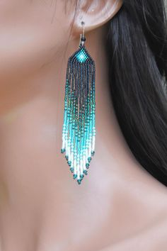 Hey, I found this really awesome Etsy listing at https://www.etsy.com/listing/194589062/long-seed-bead-earrings-in-shades-of