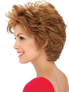 Hazel Wig by Estetica Designs Wigs : Front View   Color R30/28/26