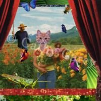 : Garden Cat by Cathy Carey ©2014 www.artstudiosandiego.com