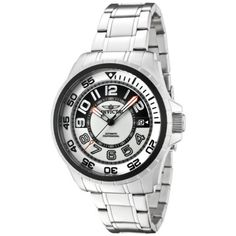 Invicta Mens 1831 Specialty Automatic Black and Grey Dial Stainless Steel Watch *** More info could be found at the image url.Note:It is affiliate link to Amazon.