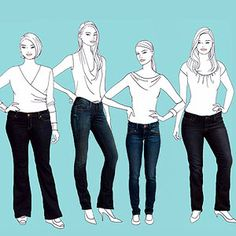 The perfect jeans for your body type. Gretta Monahan breaks down denim one body type at a time.