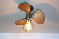 "Brass bronze boat Propeller Ceiling Light 16""  marine nautical vintage man cave #Nautical"