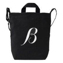 Custom Letter B Initial Monogram BAGGU Duck Bag Duck Canvas Bag