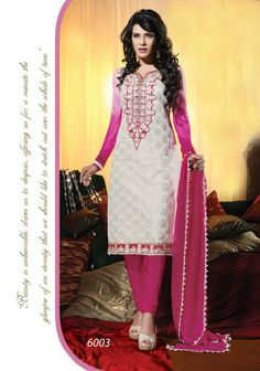 UNIQUE EMBROIDERED DEEP PINK & WHITE SALWAR KAMEEZ Follow the below link for more details : http://vandvshop.com/product/unique-embroidered-deep-pink-white-salwar-kameez/