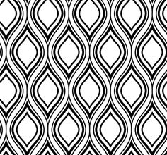 York Wallcoverings Black And White Book Ogee Wallpaper Wall Coverings Null