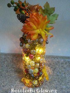 Autumn Glow Wine Bottle Light by BottlesBeGlowing on Etsy, $25.00