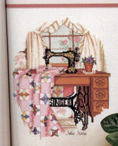Singer sewing machine cross stitch!