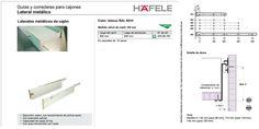 Lateral Metalico Cajon Hafele 500 Mm X 118 Mm - Buscar con Google