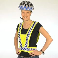 There are plenty of reflective strips available to help illuminate you by night. But how many of those strips incorporate lines of water-resistant flashing red LED lights to add a whole extra dimension to your visibility? By day, High Visibility's Polite LED Flashing Harness combines the brightest high-vis yellow with its trademark 'police'-style check design for extra respect. By night, the reflective checks and 12 red lights ensure you're fully visible.   £25.00