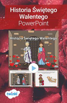 Prezentacja o Świętym Walentym opowie najmłodszym historię słynnego biskupa, dzięki któremu 14 lutego obchodzimy święto Walentynek. #walentynki #walentynkowa #prezentacja #powerpoint #swwalenty #walenty #historiawalentynek #14luty #prezentacjawalentynki #twinkl #twinklpolska #szkola #podstawowa #przedszkole Books, Free, Historia, Libros, Book, Book Illustrations, Libri