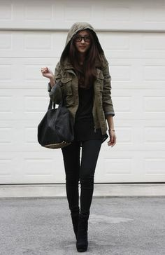 Vintage Jacket, Alexander Wang Tshirt, Alexander Wang Leather Bag, Office Boots