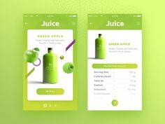 Juice Mobile App – Green Apple