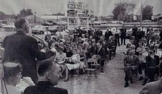 1962 Groundbreaking for HarMar Mall. Rose Bowl Lanes is across Snelling on the left side of the picture.