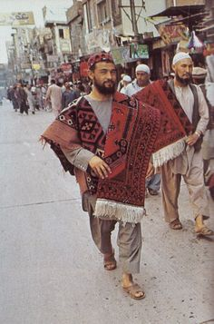 "kicker-of-elves:  ""Carpet merchants in Peshawar National Geographic June 1985 Steve McCurry  """