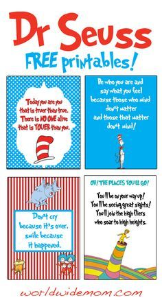 Free Printable Wall Art | Dr Seuss Day - celebrate with free printable Wall Art! - WorldWideMom