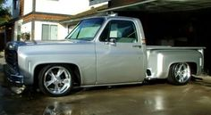 """Silver Bullet"", 1975 C10 Chevy Stepside."