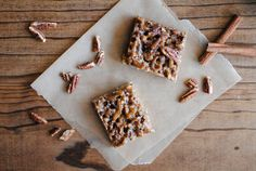 Sticky Cinnamon Pecan Bars by litel knyght, via Flickr