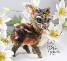 SOLD - Teacup Fawn ~ Poseable Fantasy Art-Doll