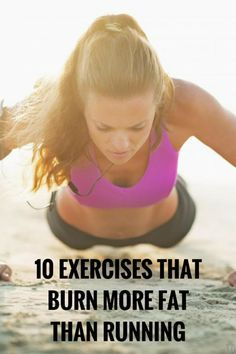 10 exercises that torch calories as fast as running. #fitness #workout #health