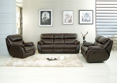2 Pcs. Ac Pacific Jonathan Dual Reclining Sofa and Loveseat Set
