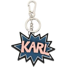 Karl Lagerfeld K/Pop Rubber Keychain ($39) ❤ liked on Polyvore featuring accessories, black, karl lagerfeld, keychain key ring, fob key chain, ring key chain and key chain rings