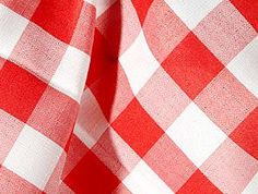Red Check Print -  Check out this country red check print table linen from Tablecloths for Granted. If you would like to see this in person, stop by 510 Union St., Schenectady, NY 12305.