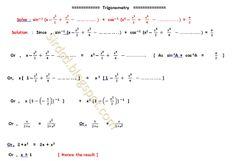 Applied Mathematics: Trigonometry.......