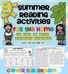 Summer Reading Activities