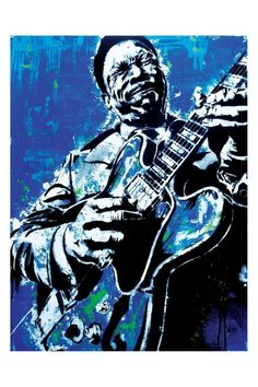 B.B. King  The Thrill is Gone  12 x 18 High by PointBlankDesign, $20.00