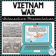 Vietnam War Interactive Google Slides™ Presentation is the Perfect reading comprehension activity during distance learning! This presentation focuses on Vietnam War, the draft, Lyndon B. Johnson, Richard Nixon, Ho Chi Minh, Gulf of Tonkin. These social studies Vietnam War activities are self checking