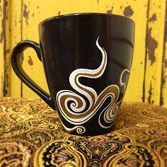 Genie in a Mug - Hand Painted Ceramic Mug - https://www.etsy.com/listing/246675504/genie-in-a-mug
