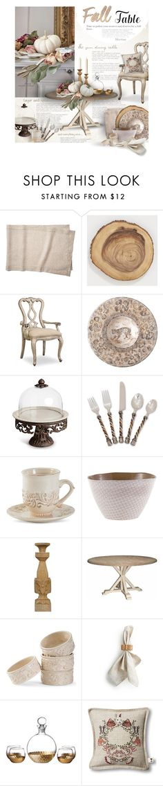 """Set the Table"" by thewondersoffashion ❤ liked on Polyvore featuring interior, interiors, interior design, home, home decor, interior decorating, Tessitura Pardi, Cost Plus World Market, Hooker Furniture and WALL"