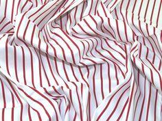 Stripe Print Jardin Stretch Cotton Sateen Dress Fabric | Fabric | Dress Fabrics | Minerva Crafts