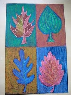 Fall Fun: Warm and Cool Colors Leaf Study - - Pinned by #PediaStaff.  Visit http://ht.ly/63sNt for all our pediatric therapy pins