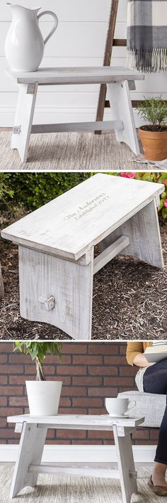How at-home would this decorative farmhouse step stool personalized with a family name and 'Established' date look in a rustic theme kitchen, sun room, den, or bedroom? A memorable house warming gift for the new home owners or recently married couple, this adorable stool is not for standing on but perfect for used as an end table, night stand, or outdoor coffee table. This decorative step stool can be purchased at…