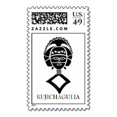 KUJICHAGULIA Kwanzaa Postage Stamps. This is a fully customizable business card and available on several paper types for your needs. You can upload your own image or use the image as is. Just click this template to get started!