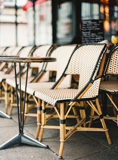 Paris cafe seating | Kayla Barker Fine Art Photography