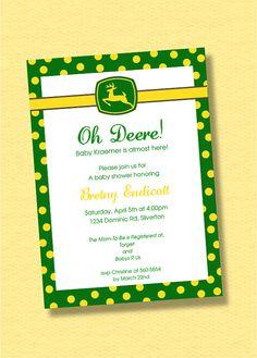 John Deere Baby Shower Invitation Custom Baby By TrineDesign, $12.00